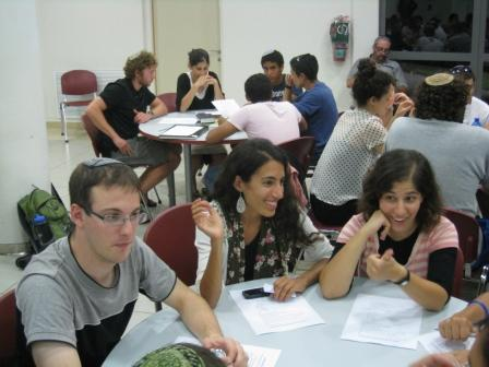 Israel program- around tables