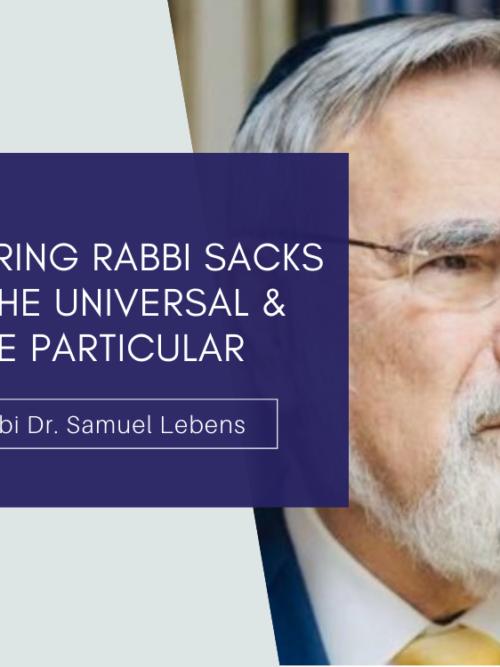 Exploring Rabbi Sacks Banner
