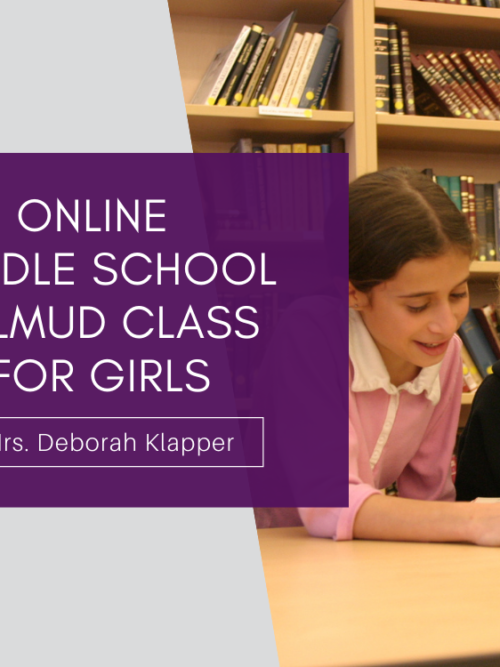 Online MS Talmud Class for Girls