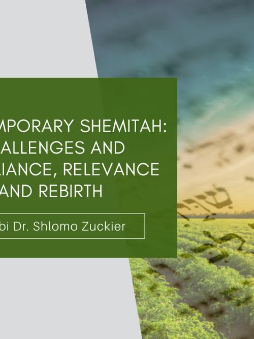 Contemporary Shemitah